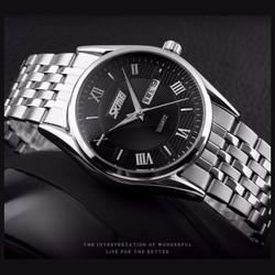 Đồng hồ Nam dây inox SKMEI cao cấp mã DHSK912