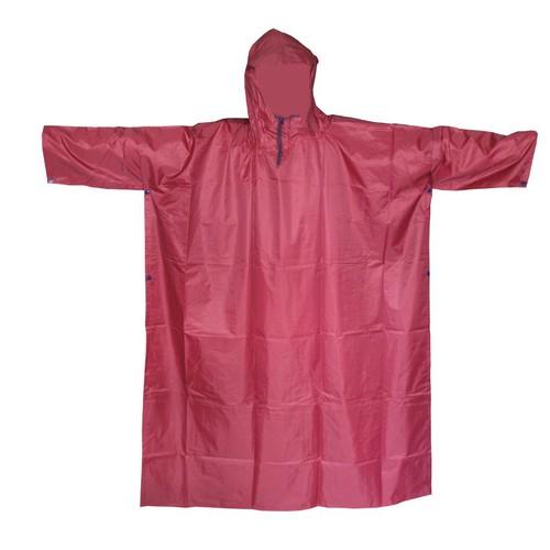 Áo mưa cánh dơi vải dù- Đỏ đậm