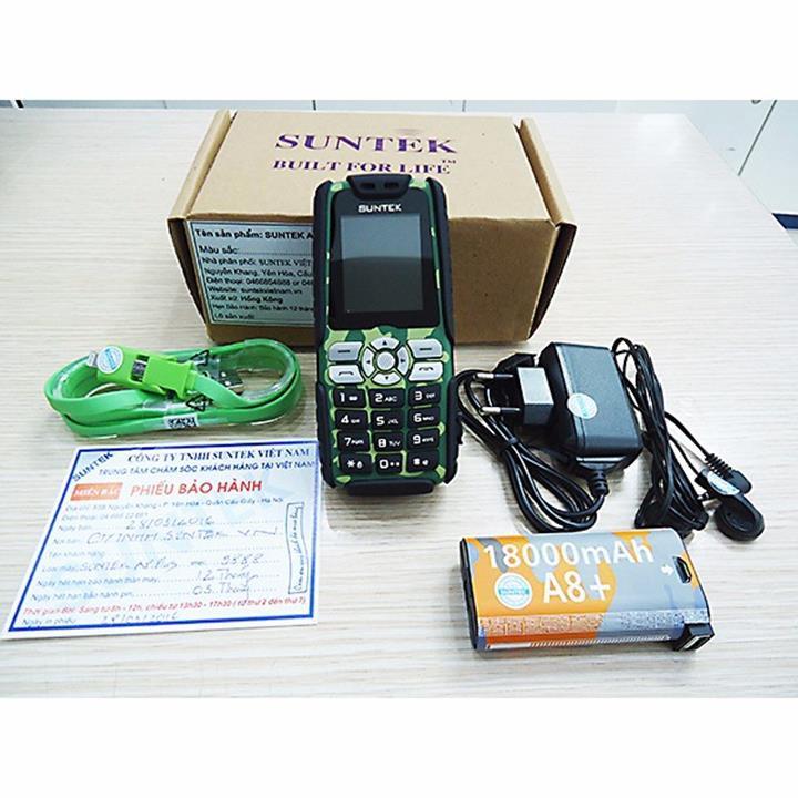 Điện thoại PIN khủng SUNTEK A8 Plus Đen 6