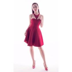 Đầm xòe đỏ dự tiệc dễ thương D583
