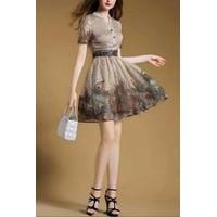 HÀNG NHẬP - Đầm tùng xòe họa tiết Chim Công cực đẹp