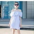 Đầm suông hở vai Midi Dress
