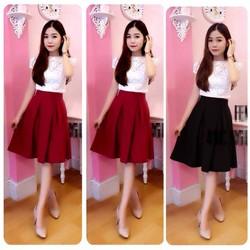 Set áo ren chân váy FEMI ren cao cấp - SET827