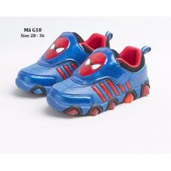 Giày siêu nhân -Spiderman cho bé trai 2,5 - 10 tuổi G18