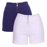 Bộ 2 Quần Short Shorts Sooc Đùi Vải Zip Nữ Co Giãn Chất Đẹp 017C W N