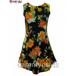 Đầm xòe trẻ trung, xinh xắn MY GU D99 - Họa tiết 1