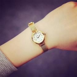 Đồng hồ nữ dây mỏng vàng quý phái