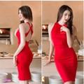 Đầm đỏ body thiết kế hở lưng VD380 - V140