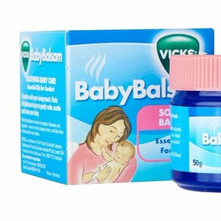 Dầu Bôi Ấm Ngực Giảm Ho Vicks Baby Balsam