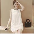 Hàng nhập_Đầm suông trắng siêu dễ thương_ Phong cách Hàn Quốc_D09