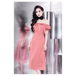 Đầm Maxi Lụa Trễ Vai Dễ Thương Như Tâm Tít - 2207.LQ