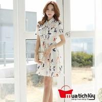 MTL - Đầm xòe họa tiết People