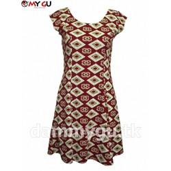 Đầm xòe trẻ trung, xinh xắn MY GU D101 - Họa tiết 3