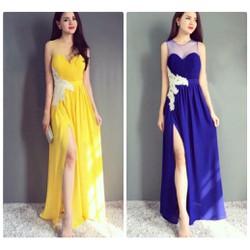 Đầm Dạ Hội Đắp Ren Xẻ Tà Sang Trọng - DXM250