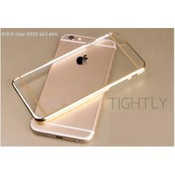 Ốp lưng nhựa dẻo trong viền vàng for Iphone 5, 6, 6s, 6+ hàng loại 1