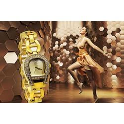 BH 3 tháng-Đồng hồ nữ sang trọng màu vàng