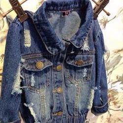 Áo khoác jeans bo eo thun_AKJ17