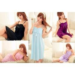 Đầm ngủ 2 dây nhiều màu