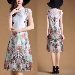 Đầm suông voan họa tiết BD178 - HÀNG NHẬP CAO CẤP Y HÌNH