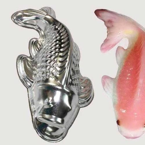 Bộ 2 khuôn cá chép làm bánh trung thu chất liệu inox cao cấp