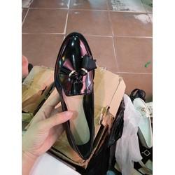 Giày slip on Zara da bóng nơ tây