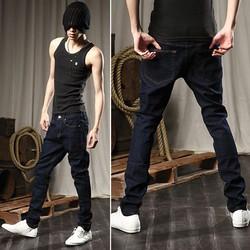 Quần jeans xanh trơn