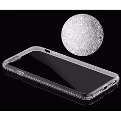Ốp lưng silicon dẻo trong suốt viền đính đá pha lê iPhone 4.5.6.6plus