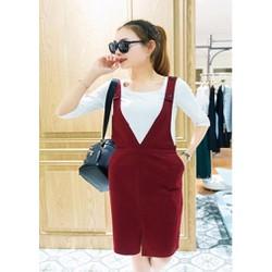 ms 673 - Set áo thun váy yếm