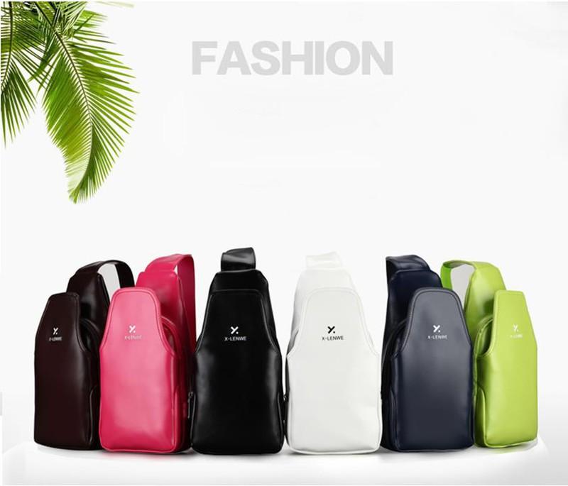 Túi da đeo chéo ngực unisex thời trang 4