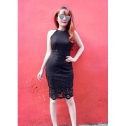 Đầm ren body kiểu yếm