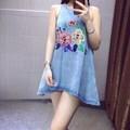 Đầm Suông Jean In Thêu - Hàng Nhập - F40