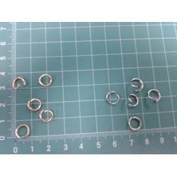 Khoen nối vòng kim loại 8mm -set 60 cái