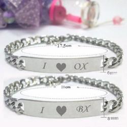 Lắc tay đôi I love OX - I love BX