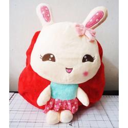 Balo vải nhung hình thỏ con xinh xắn