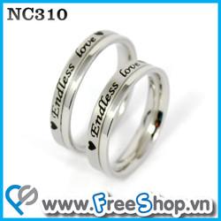 Nhẫn đôi cao cấp NC310 - BH vĩnh viễn ko đen