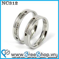 Nhẫn đôi cao cấp NC312 - BH vĩnh viễn ko đen
