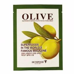 Mặt Nạ dưỡng ẩm chiết xuất ô lưu Skinfood Olive Mask Sheet SK07