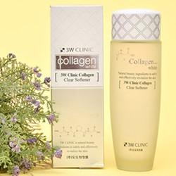 Chính hãng - Nước hoa hồng sạch da 3W Clinic Collagen White