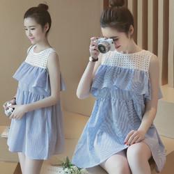 Đầm bầu thời trang, thiết kế mới trẻ trung, phong cách nữ tính-D2428