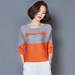 Hàng nhập cao cấp: Áo kiểu phối màu cực chất A184