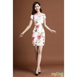Đầm suông hoa tinh tế