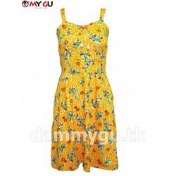 Đầm xòe trẻ trung, xinh xắn MY GU D117 - Họa tiết 3