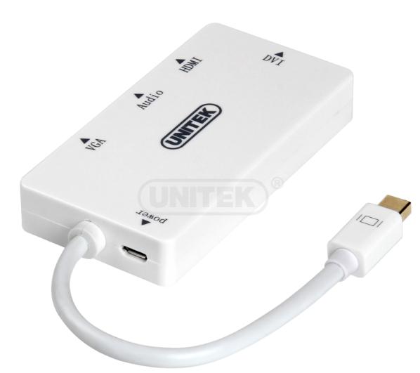Cáp chuyển đổi mini Displayport to HDMI + VGA + DVI Unitek Y-6354 1