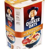 Yến mạch quaker oats old fashion nguyên thùng 4,53kg