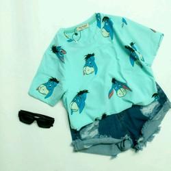 Áo thun cotton 4 chiều - Cartoon - hình thật