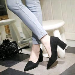 Giày gót vuông hàng xịn