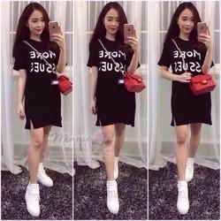 Đầm thun suông dài free size đẹp rẻ
