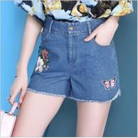 Quần jean ngắn nữ cao cấp - 6010100