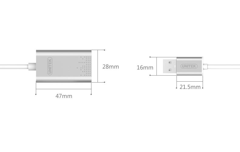 USB Sound âm thanh chính hãng Unitek Y-247 2