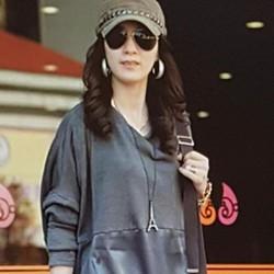 Áo thun nữ dài tay, thiết kế độc đáo, cá tính.